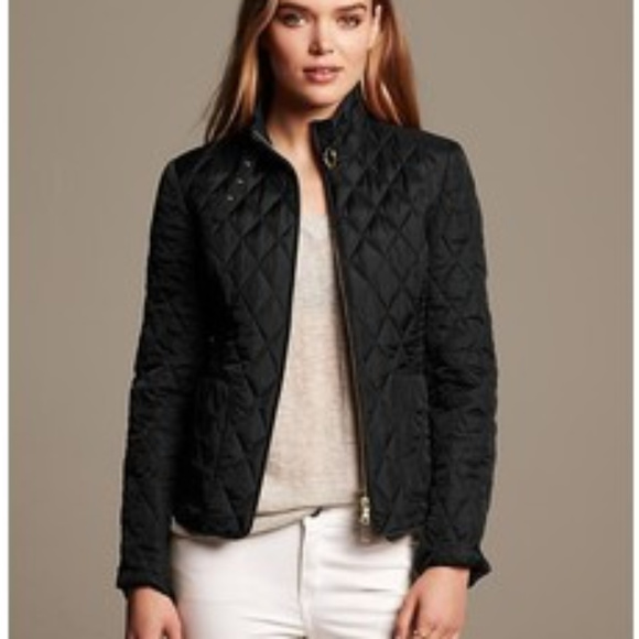 c3dcbc633 Banana Republic Womens Quilted Field Jacket-BLACK